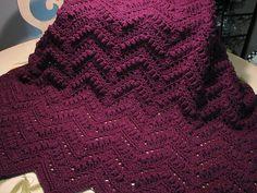 Popcorn Ripple Afghan - such a pretty pattern; easy.   #crochet #blanket #throw