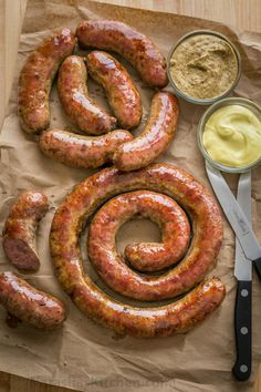 Learn how to make Homemade Sausage with this VIDEO recipe. Homemade sausage is a great way to use less expensive cuts of meat. The best kielbasa recipe! Polish Sausage Recipes, Homemade Sausage Recipes, Italian Sausage Recipes, Pork Recipes, Cooking Recipes, Best Kielbasa Recipe, How To Make Sausage, Food To Make, Sausage Making