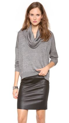 Great versatile sweater to wear with skinny pants or pencil skirt [Joie]