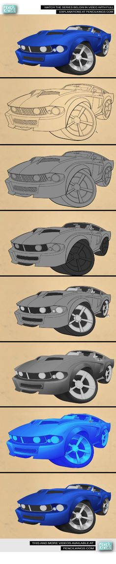 Car Caricature Color Video series By: April Eriksson  To watch the full series please visit us at www.pencilkings.com