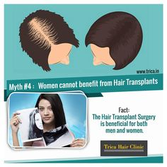 There are still a couple of myths about the procedure that deter men and women from exploring the possibility of hair transplants.Know the hair transplant myth we all need to stop believing and get to know the surprising truth of the same. To know more visit : www.trica.in/