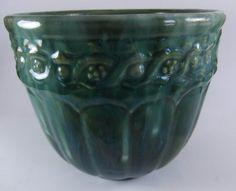Early Green Majolica Blended Glaze American Art by acornabbey