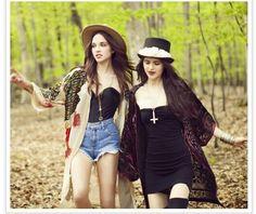 Skinny girls and kimonos <3