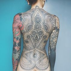 Amazing Full Back Tattoo Full Back Tattoos, Full Body Tattoo, Back Tattoo Women, Body Art Tattoos, Girl Tattoos, Sleeve Tattoos, Tattoos For Women, Tatoos, Star Tattoos
