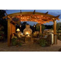 Redwood pergola from Outdoor Living Space.