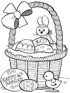 Easter In Cart Coloring Pages