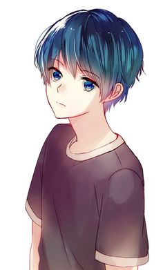 Marvelous Learn To Draw Manga Ideas. Exquisite Learn To Draw Manga Ideas. Hot Anime Boy, Anime Boys, Cute Anime Guys, Anime Teen, Blue Hair Anime Boy, Anime Chibi, Manga Anime, Art Anime, Chibi Boy