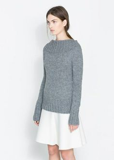 50 Under $50 Statement Sweaters - RIBBED BOAT NECK SWEATER, $49.90, ZARA.COM