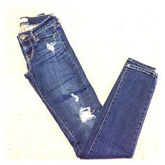 Bullhead skinny jeans Bullhead Black indigo wash destroyed denim size 1 skinny Bullhead Jeans Skinny