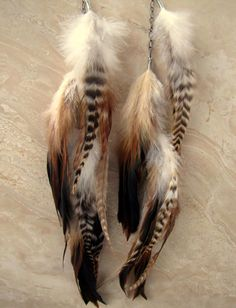Willow - Extra Long Feather Earrings. Way kool