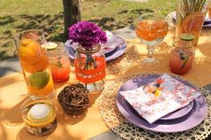 Hostess with the Mostess® - Citrus Inspired Picnic Party with a View
