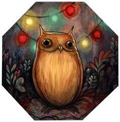 Kelly Vivanco - Art - Owls Lights