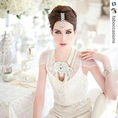 When planning your wedding day 'look' every detail should be taken into account so its cohesive. This way your photos will be amazing! #makeup & #hair #teamnicolerichards  #Repost @faboccasions  Inspired by the Chanel Paris to Bombay Fall 2012 campaign.  #chanel #bombay #paris #fashion #jewellery #headpiece #southasianwedding #indianwedding #jennypackham #whitewedding #white #wedding #weddingplanner #weddingdesign #pearls #statementnecklace #beauty #bride #weddingdress #wedluxe