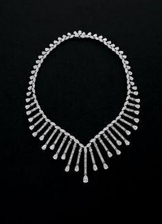 A Suite of Diamond Jewelry  Necklace signed 'Asprey'