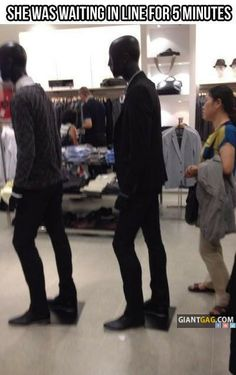 She Was Waiting In Line For 5 Minutes, Click the link to view today's funniest pictures!