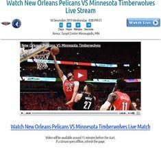 Watch New Orleans Pelicans VS Minnesota Timberwolves Match for Free Basketball Drills, Basketball Art, Target Center, New Orleans Pelicans, Minnesota Timberwolves, Nba Playoffs, Minneapolis, Wednesday, December