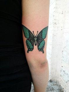 #butterfly #tattoo #green