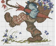 """Globetrotter"" Hummel cross stitch pattern, 2B"