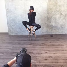 Throwback to all black photoshoot! #SALSIT #bts #black #fashion #style #model #outfit
