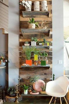 pallet wall decor shelving