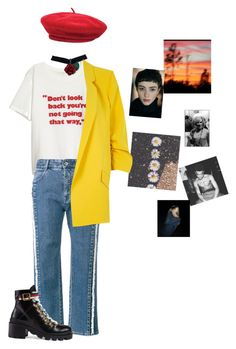 """Retro i guess."" by zelihagunes on Polyvore featuring STELLA McCARTNEY, Gucci, Brixton and River Island"