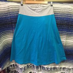 "NWOT American Apparel heather gray & blue skirt XL Brand: American ApparelType: midi skirt Size: Extra LargeFabric: 100% cottonCondition: New without tagsColor: heather gray and blueMeasurements: Waist – 15"" stretches to about 17.5"" across the front, lying flat. Length - 27"". Bottom opening 37""⬆ ️Measurements & info ⬆️ ✅ YES - Offers, bundles, questions ✅  NO - Trades, holds, PP  ⭐️ All items are authentic ⭐️  20% off bundles  American Apparel Skirts Midi"