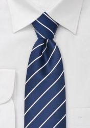 Cordoba Mikrofaser-Krawatte navy/weiß günstig kaufen