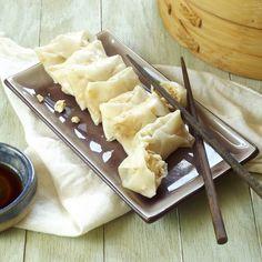 Steamed Tofu Pot Stickers - Vegetarian (tofu, soy sauce, scallions, ginger, garlic)