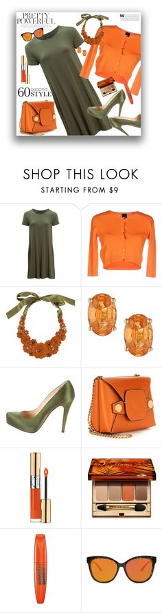 """""""60 Second Style"""" by marionmeyer ❤ liked on Polyvore featuring United by Blue, Pinko, Liberty, Christian Louboutin, STELLA McCARTNEY, Yves Saint Laurent, Clarins, Rimmel, Forever 21 and tshirtdresses"""