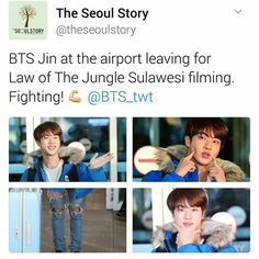 Good luck Jin! (How will rapmon manage the kids without you?!)