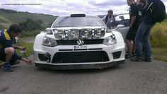 #VW #Polo R WRC preparing for #Rally Germany 2013 near Trier