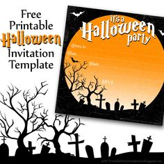 FREE Printable Halloween Invitation