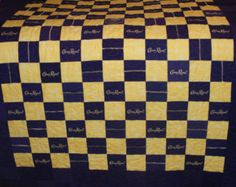 Crown Royal Quilt Made from Your Collection of by LuluBelleQuilts