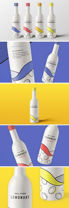 Hill Farm Lemonade packaging by Elinor OBrien