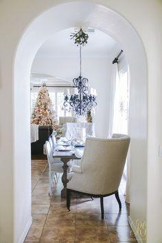 christmas home tour elegant kitchen christmas tree