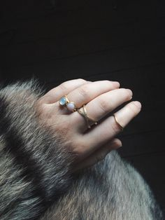 Styling by klaranorgaard showing Bubble Ring Sky Blue Medium Gold, Bubble Ring Pink Medium Gold, Cross Ring Gold and Wave Ring Gold #jewellery #Jewelry #bangles #amulet #dogtag #medallion #choker #charms #Pendant #Earring #EarringBackPeace #EarJacket #EarSticks #Necklace #Earcuff #Bracelet #Minimal #minimalistic #ContemporaryJewellery #zirkonia #Gemstone #JewelleryStone #JewelleryDesign #CreativeJewellery #OxidizedJewellery #gold #silver #rosegold #hoops #armcuff #jewls #jewelleryInspiration…