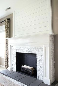 Fantastic Pics wooden Fireplace Remodel Popular Great No Cost fake Fireplace Makeover Concepts Now there are plenty of interesting flames upgrade t Wooden Fireplace, Shiplap Fireplace, Small Fireplace, Farmhouse Fireplace, Fireplace Surrounds, Fireplace Design, Diy Faux Fireplace, Fireplace Ideas, Craftsman Fireplace