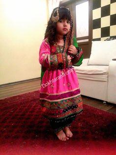 #Little #cute #afghan #girl #afghani #dress