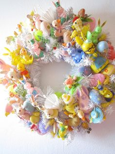 fun and colourful easter wreath