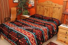 """Twin Size 68"""""""" wide, 96"""""""" long Reversible Lightweight Soft Acrylic Woven Pattern This is a beautiful TWIN SIZE, southwestern bedspread. With an outstanding southwest or western design, this woven spr"""