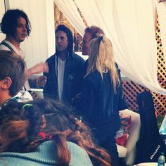 Tom Waits with his fam and Jack White at Outside Lands in SF. I hope Jack knows how lucky he is.