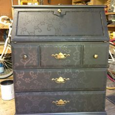 lace stencil furniture - Google Search                              …