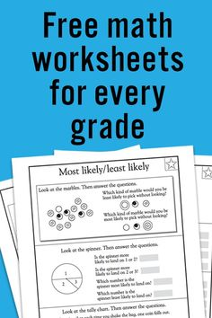 FREE Printable Math Worksheets for Preschool and Every Elementary Grade | Homeschool Giveaways