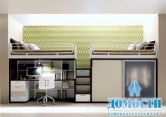 Картинки по запросу двухъярусная кровать со столом