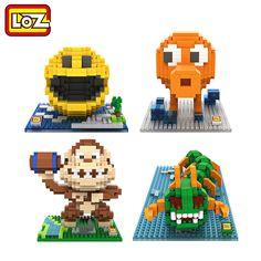 Loz pixel figura building blocks giocattolo pacman pac man orangutan octopus chilopod assemblage giocattolo distributore autorizzato ufficiale