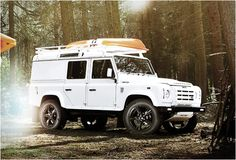 Twisted is an English company that specializes in custom Land Rovers, they enhance Defenders, Range Rovers, Discoverys and Freelander vehicles. Their Twisted Alpine is a Defender thats been transformed inside and out into the ultimate adventure famil