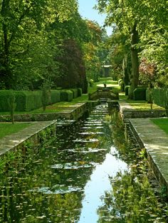 The Peto Water Garden at Buscot Park in Oxfordshire