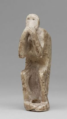Proto-Elamite gypsum statuette of a Monkey, c. 3000 BCE, from Susa