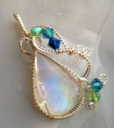 Rainbow Moonstone SOLD. By Tina Murphy - 2 Cool Creations Jewelry