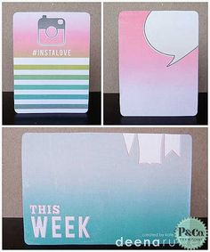 Ombre Journaling Cards  by KateChristensen